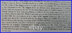 Ww1 Ww2 Belgian Agents Resistance Prisoner Pow Casualty Medals + Badges -joassin