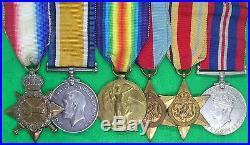 Ww1 & Ww2 Royal Navy Medal Group, Able Seaman Petherick, Kia Hms Palomares 1942