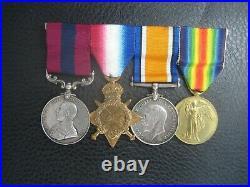 Ww1 Ypres 1915 Distinguished Conduct Medal Group North Midland Brigade R. F. A