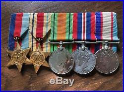 Ww2 Australian 2/23rd Battalion Dow El Alamein 1942 Medal Group Of 5