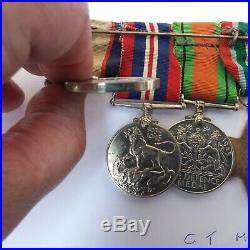 Ww2 Australian 6 Medal Group 2/8 Field Regt Aif Tobruk, El Alamein, Brunei Bay