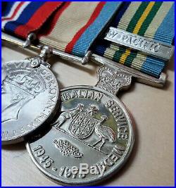 Ww2 Australian Pacific Campaign Medal Group Raaf 89034 Bevan