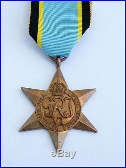Ww2 British Air Crew Europe Star Medal 100% Original