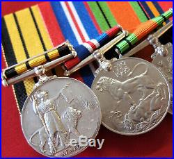 Ww2 British Army & Kenya Regiment Medal Group Captain John Gordon Laing Mau Mau