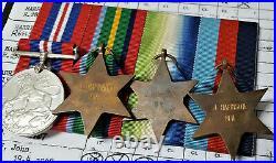 Ww2 British Merchant Navy Atlantic & Pacific Medal Group To John Harrison. M. N