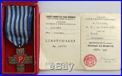 Ww2 German Holocaust Concentration Camp Auschwitz Survivor Medal + ID Juden Jude
