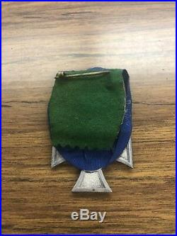Ww2 German Police Medal 18 Year Long Service Parade Mount Pin Back