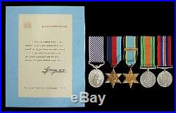 Ww2 Group Five Distinguished Flying Medal, 1939-1945 Star, Air Crew, Defence & War