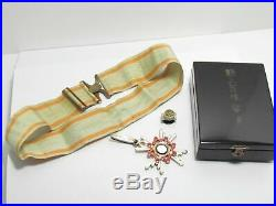 Ww2 Japanese Medal Order Of The Sacred Treasure 3rd Class Silver Gold Wwii Japan