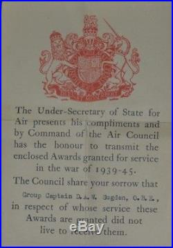 Ww2 Medal Group Group Captain Raf Awarded Obe For France 1940 & MID