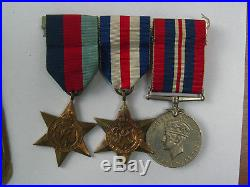 Ww2 Medal Group Merchant Navy Group + Discharge Book + Forms Etc 1944 Service
