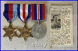 Ww2 Medal Grouping Pow, Lincs Regt Boston Officer. Mounted Ex British Legion