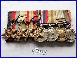 Ww2 Medals Gp 5 Theatres, Korea & Qe2 Rfr Lsgc To Sgt Muldowney Royal Marines