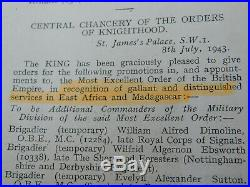 Ww2 Officer Colonel Madagascar Obe Diego Suarez Operation Medal Group Houghton