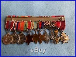 Ww2 Orignal Raf Miniature Medal Group Of 10 Kcb Obe Dfc Afc Etc