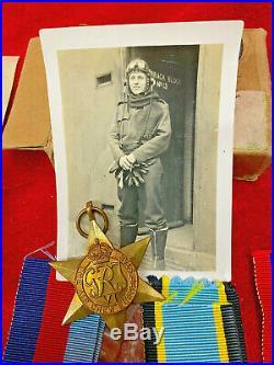 Ww2 Raf Aircrew Europe Medal Group Pilot 56 Sdn Kia. 1944 + Box Telegram & Photo