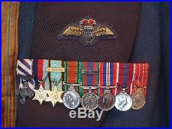 Ww2 Rcaf Spitfire Pilot 1955 Mess Uniform & Dfc Miniature Medal Group