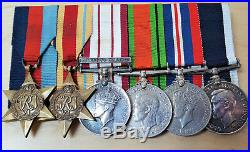 Ww2 Royal Marine Long Service Medal Group E C Newman New Zealand Naval Service