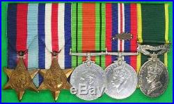 Ww2 Royal Signals Territorial Medal Group, M. I. D For France 1940, Sgt Dyson