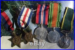 Ww2 Territorial Medal Group Of Five + Original Paperwork Bigmore Carshalton
