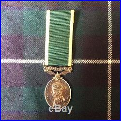 Ww2 Territorial Medal To W. O. 1. (Lieut 1944) Poss Arnhem