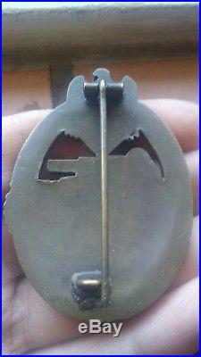 Ww2 german medal panzer assault badge bronze