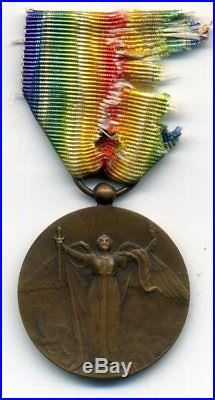 Ww 1° Medaglia Cuba Interalleata 1915-1918 Victory Medal Cuba 1918 Rarissima