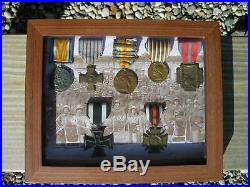 Wwi Military Cased Medals German-us-french-italy-belgium-british Ww1 War Set