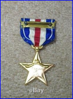 Wwii Slot Brooch Silver Star Medal Ww2