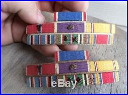 Wwii paratrooper airborne named bronze star medal grouping ribbon bars ww2